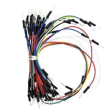 65 PCS Jumper Wire Mix Color Male to Male Solderless Cable Wire wholesale for Arduino Breadboard