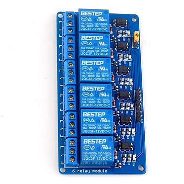 6 Channel Optical Coupling Relay Module 12V for Arduino