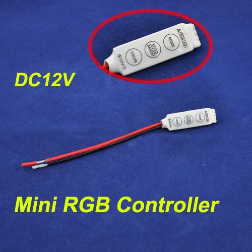 8-16V 2A 3 Channel LED Mini RGB Controller with RED & Black Wire