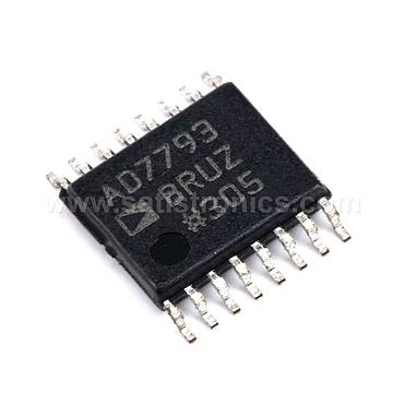 ADI AD7793BRUZ 24-bit Analog-to-Digital Converter Incremental Sum TSSOP-16