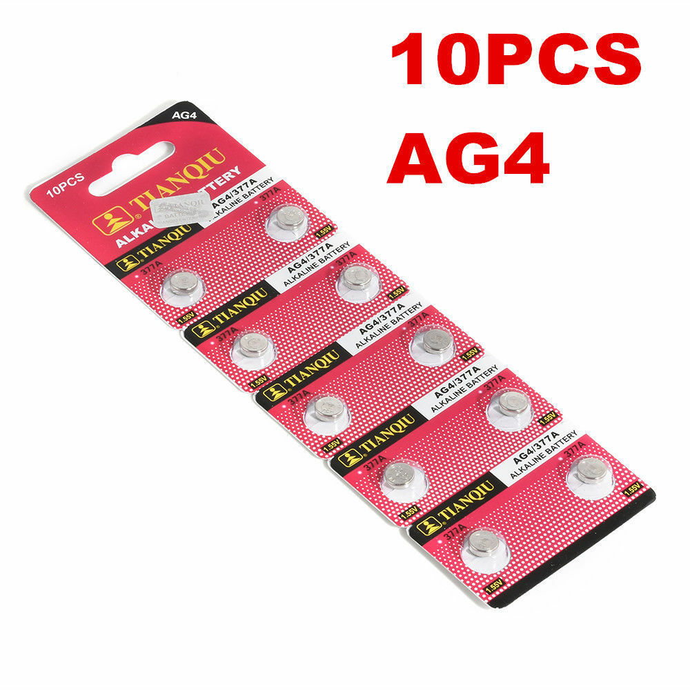 AG4 377A/LR656H Watch Coin Battery for Watch Lighter Clocks