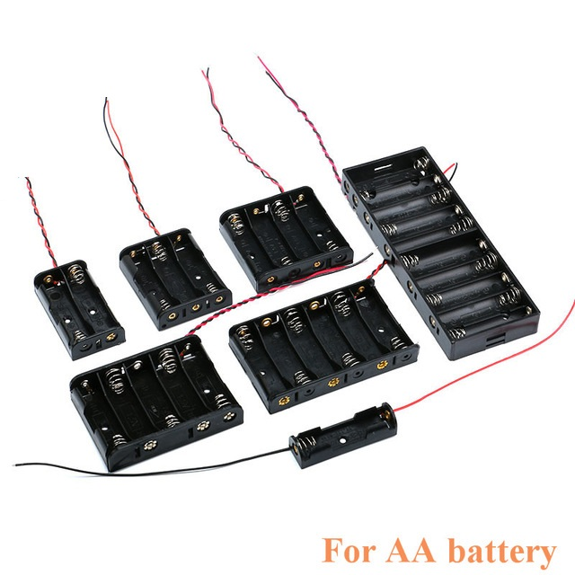 AA Size Power Battery Storage Case Box Holder Leads With 1 2 3 4 5 6 8 Slots