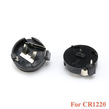 CR1220 round Button Coin Cell Battery Socket Holder Case Cover