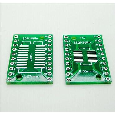 SOP20 SSOP20 TSSOP20 to DIP20 PCB SMD DIP/Adapter plate Pitch 0.65/1.27m