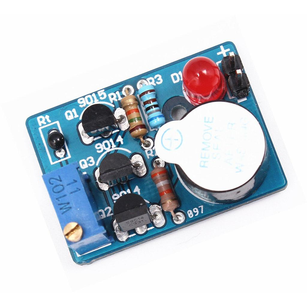 Electronic Temperature Control Sound Light Alarm Suite DC 3~5V DIY Kit