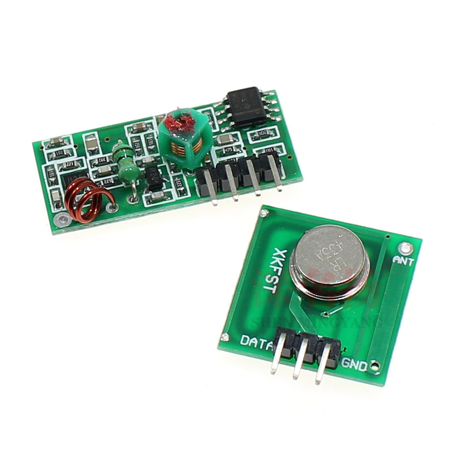 433Mhz RF transmitter and receiver kit for Arduino
