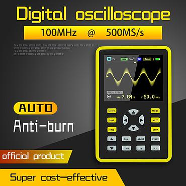FNIRSI-5012H 100MHz Analog Bandwidth 500MS/s Sampling Rate 2.4-inch IPS Screen Digital Oscilloscope