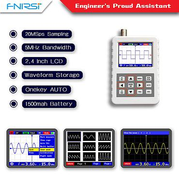 DSO FNIRSI 5Mhz Analog Bandwidth 20MS Sampling Rate Handheld Mini Digital Oscilloscope