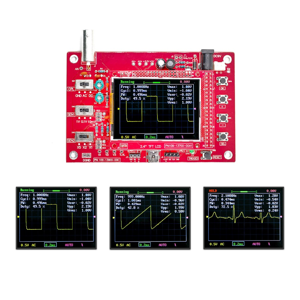 "DSO FNIRSI-138 1MS Sampling Rate 2.4"" TFT Digital Oscilloscope with Probe"