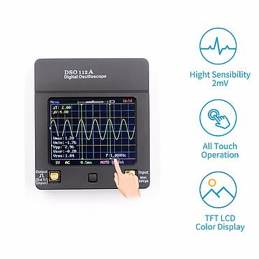 DSO112A 0-2MHz Analog Bandwidth 5MS Sampling Rate Mini Digital Oscilloscope