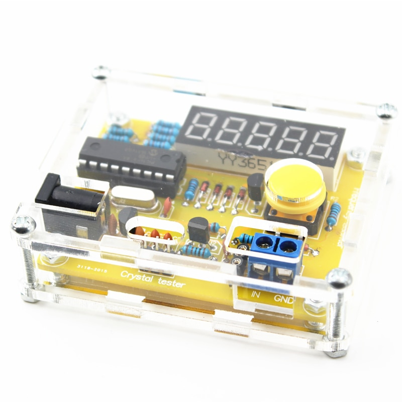 1Hz-50MHz Frequency Counter Meter Crystal Oscillator Tester with Shell Parts LED DIY Kits