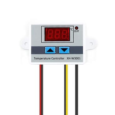 XH-W3001 DC12V DC24V AC220V Digital LED Temperature Controller Thermometer