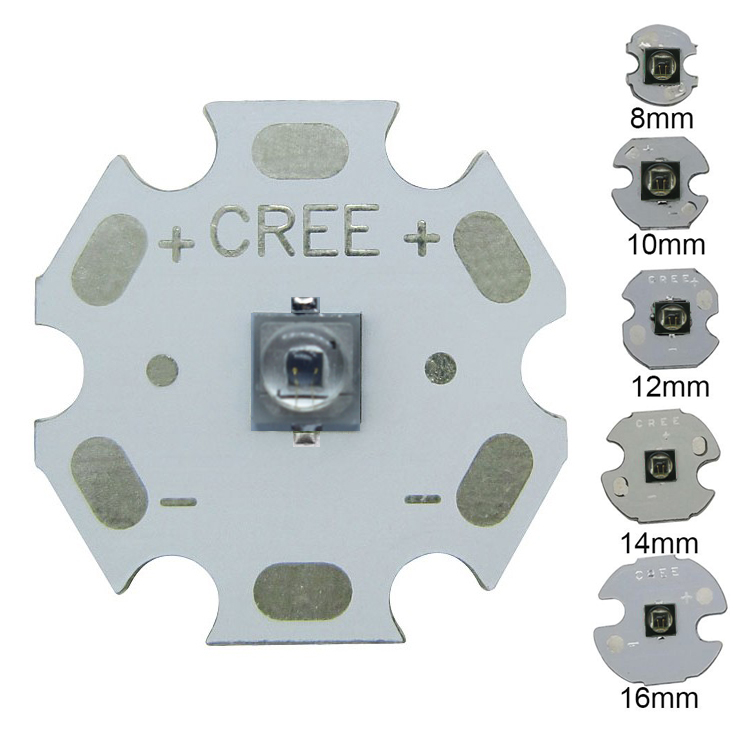 3W 3535 EPILEDs Infrared IR 850NM 730NM 940NM High Power LED Diode Emitter with 8mm / 12mm / 14mm / 16mm / 20mm PCB