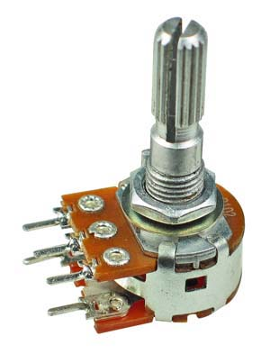 WH148 Double Linear Potentiometer with Switch 1/2W 25mm Shaft 1K-1M