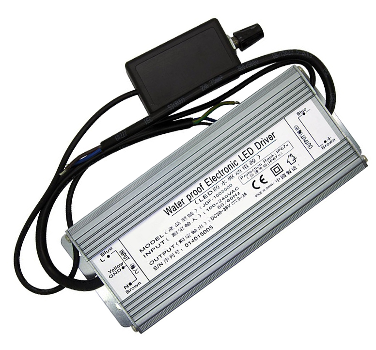 100W Dimmable LED Driver Input AC100V~264V DC30V~36V 3000mA Waterproof