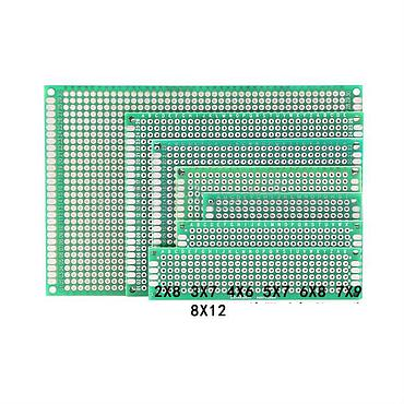 Double-side Spray Tin Plate Universal Experiment Boards PCB Circuit Plate Hole Plate
