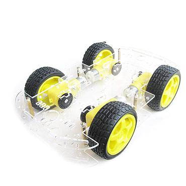EMO 4 wheel 2 layer Robot Smart Car Chassis Kits with Speed Encoder for Arduino