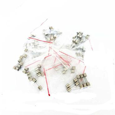 Glass Fuses Assortment Kits 6 x 30MM 250V 1A to 15A 10 Values Each 5pcs
