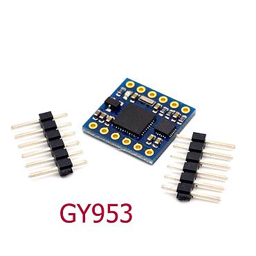 GY953 AHRS 9-axis Inertial Navigation Sensors Electronic Compass with Tilt Compensation Modules