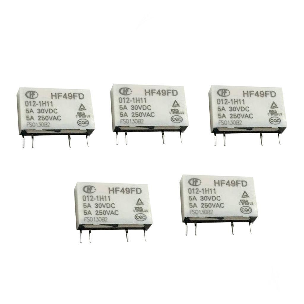 Hong Fa 4 Pin Relay HF49FD- 005 012 024-1H11 5A