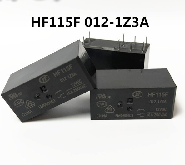 Hong Fa 8 Pin Relay 115F-JQX-115F- 005 012 024-1ZS3 16A