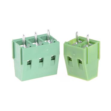 KF128 Copper PCB Terminal Blocks Green 5mm Pitch Screw Terminal Connector 2 Pin 3 Pin Straight Leg
