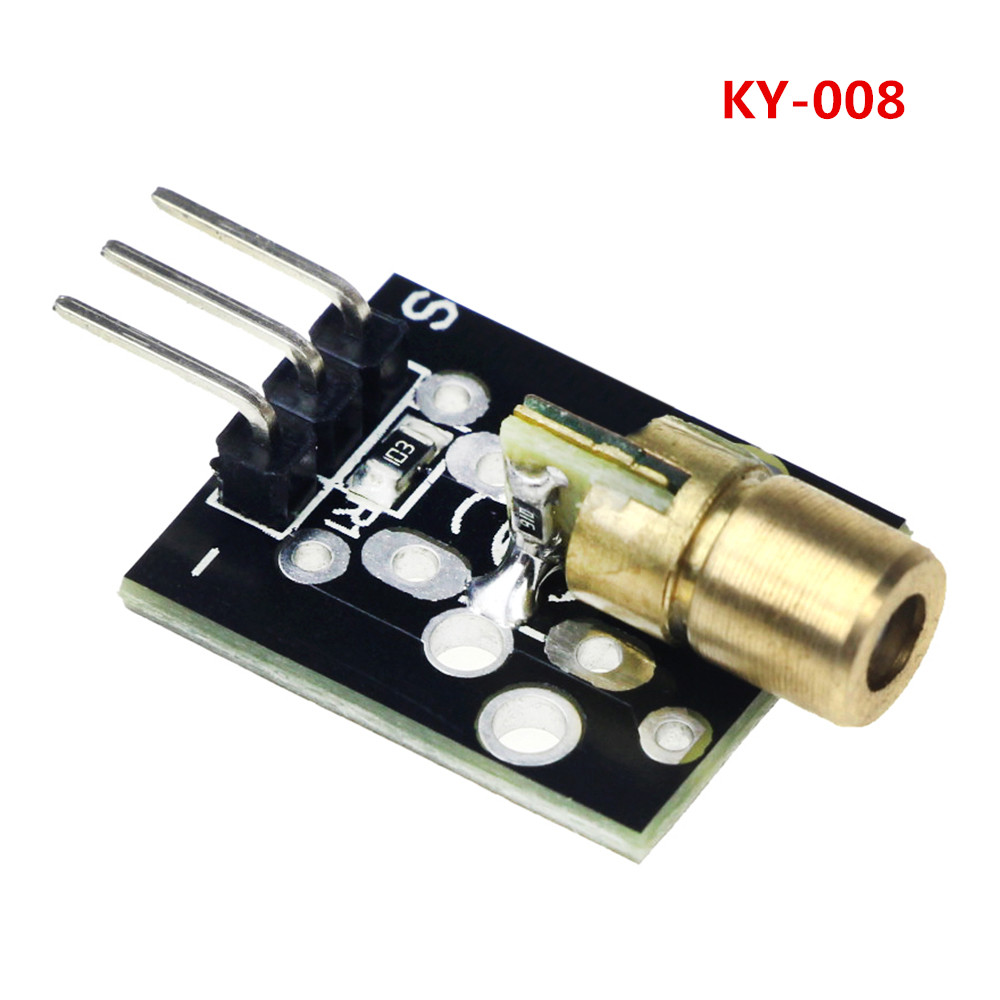 KY-008 3pin 650nm Red Laser Transmitter Dot Diode Copper Head Module for arduino DIY Kit