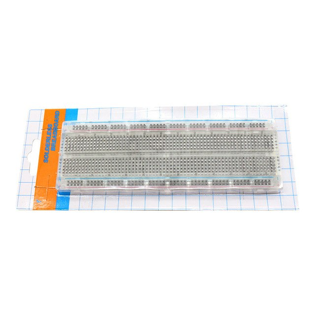 MB-102 Transparent 830 Point  Solderless Breadboard for Arduino