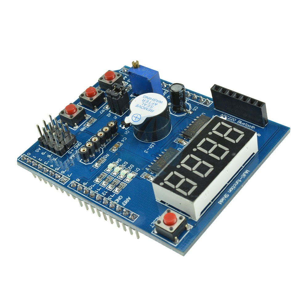 Multi Function Shield with Buzzer LM35 / 4 Digit Digital LED Expansion Board Module for Arduino UNO R3